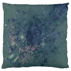 Vintage Floral In Blue Colors Standard Flano Cushion Cases (Two Sides)