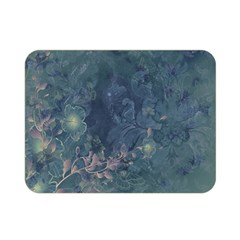 Vintage Floral In Blue Colors Double Sided Flano Blanket (Mini)