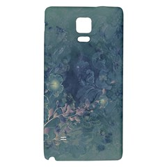 Vintage Floral In Blue Colors Galaxy Note 4 Back Case