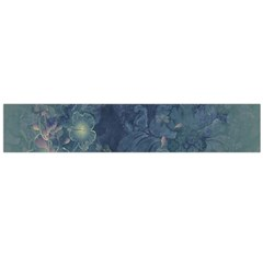Vintage Floral In Blue Colors Flano Scarf (Large)