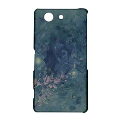 Vintage Floral In Blue Colors Sony Xperia Z3 Compact