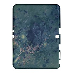 Vintage Floral In Blue Colors Samsung Galaxy Tab 4 (10 1 ) Hardshell Case