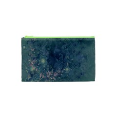 Vintage Floral In Blue Colors Cosmetic Bag (xs)