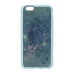 Vintage Floral In Blue Colors Apple Seamless iPhone 6 Case (Color)