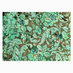 Beautiful Floral Pattern In Green Collage 12  X 18