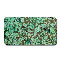 Beautiful Floral Pattern In Green Medium Bar Mats