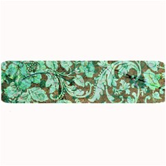 Beautiful Floral Pattern In Green Large Bar Mats