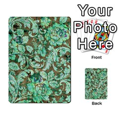 Beautiful Floral Pattern In Green Multi-purpose Cards (Rectangle)