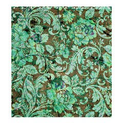 Beautiful Floral Pattern In Green Shower Curtain 66  x 72  (Large)