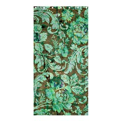 Beautiful Floral Pattern In Green Shower Curtain 36  x 72  (Stall)