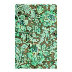 Beautiful Floral Pattern In Green Shower Curtain 48  x 72  (Small)