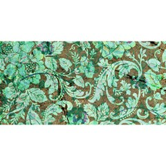 Beautiful Floral Pattern In Green YOU ARE INVITED 3D Greeting Card (8x4)