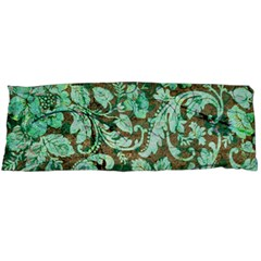 Beautiful Floral Pattern In Green Body Pillow Cases Dakimakura (two Sides)