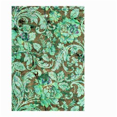 Beautiful Floral Pattern In Green Small Garden Flag (Two Sides)