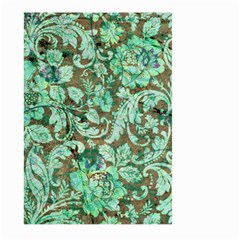 Beautiful Floral Pattern In Green Large Garden Flag (Two Sides)
