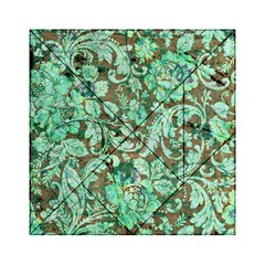 Beautiful Floral Pattern In Green Acrylic Tangram Puzzle (6  x 6 )