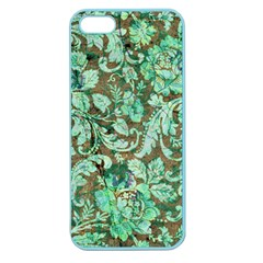 Beautiful Floral Pattern In Green Apple Seamless iPhone 5 Case (Color)
