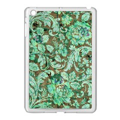 Beautiful Floral Pattern In Green Apple iPad Mini Case (White)