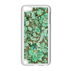 Beautiful Floral Pattern In Green Apple iPod Touch 5 Case (White)