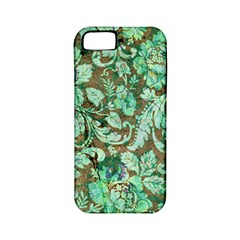 Beautiful Floral Pattern In Green Apple iPhone 5 Classic Hardshell Case (PC+Silicone)