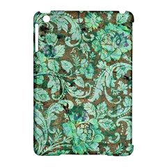 Beautiful Floral Pattern In Green Apple iPad Mini Hardshell Case (Compatible with Smart Cover)