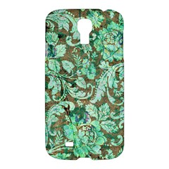 Beautiful Floral Pattern In Green Samsung Galaxy S4 I9500/I9505 Hardshell Case