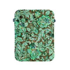 Beautiful Floral Pattern In Green Apple iPad 2/3/4 Protective Soft Cases