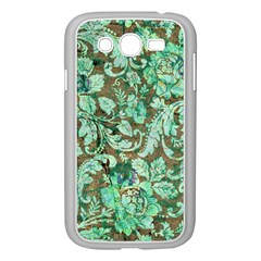 Beautiful Floral Pattern In Green Samsung Galaxy Grand Duos I9082 Case (white)