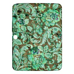 Beautiful Floral Pattern In Green Samsung Galaxy Tab 3 (10.1 ) P5200 Hardshell Case