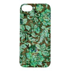 Beautiful Floral Pattern In Green Apple iPhone 5S Hardshell Case