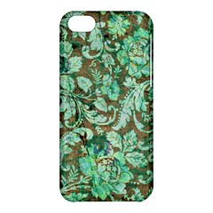 Beautiful Floral Pattern In Green Apple iPhone 5C Hardshell Case