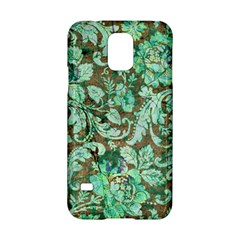 Beautiful Floral Pattern In Green Samsung Galaxy S5 Hardshell Case