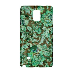 Beautiful Floral Pattern In Green Samsung Galaxy Note 4 Hardshell Case