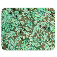 Beautiful Floral Pattern In Green Double Sided Flano Blanket (Medium)