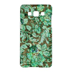 Beautiful Floral Pattern In Green Samsung Galaxy A5 Hardshell Case