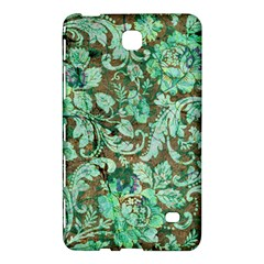 Beautiful Floral Pattern In Green Samsung Galaxy Tab 4 (7 ) Hardshell Case