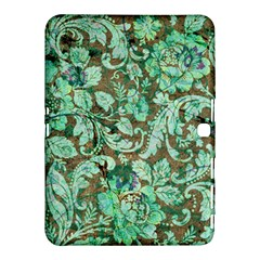 Beautiful Floral Pattern In Green Samsung Galaxy Tab 4 (10 1 ) Hardshell Case