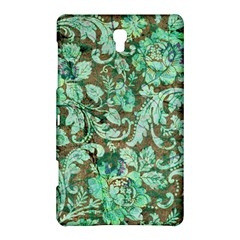 Beautiful Floral Pattern In Green Samsung Galaxy Tab S (8 4 ) Hardshell Case