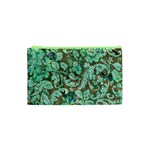 Beautiful Floral Pattern In Green Cosmetic Bag (XS) Front
