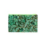 Beautiful Floral Pattern In Green Cosmetic Bag (XS) Back