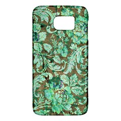 Beautiful Floral Pattern In Green Galaxy S6