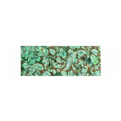 Beautiful Floral Pattern In Green Satin Scarf (Oblong)
