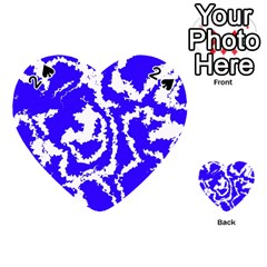Migraine Blue Playing Cards 54 (Heart)