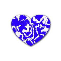 Migraine Blue Heart Coaster (4 pack)