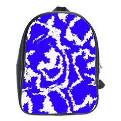 Migraine Blue School Bags(Large)