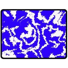 Migraine Blue Fleece Blanket (Large)