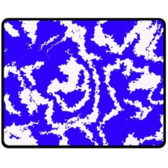 Migraine Blue Fleece Blanket (medium)