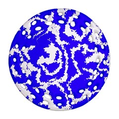 Migraine Blue Round Filigree Ornament (2Side)