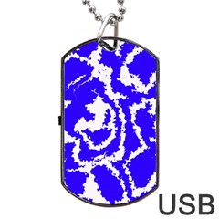 Migraine Blue Dog Tag Usb Flash (one Side)