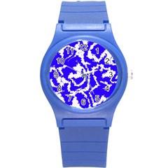 Migraine Blue Round Plastic Sport Watch (S)